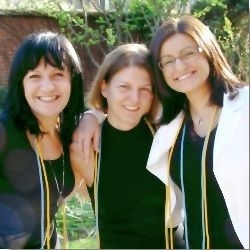 Malgorzata Suron, Franziska Rook,and Magdalena Krol after the 2008 Pi Alpha Alpha induction ceremony.